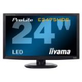 Iiyama ProLite E2475HDS 24 inch LED Backlit LCD Monitor 1000:1 300cd/m2 1920x1080 2ms D-Sub/DVI-D/HD